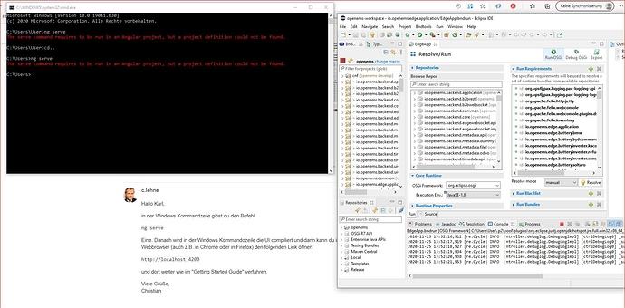 FEHLER-ng serve Windows Kommandozeile-25.11.2020